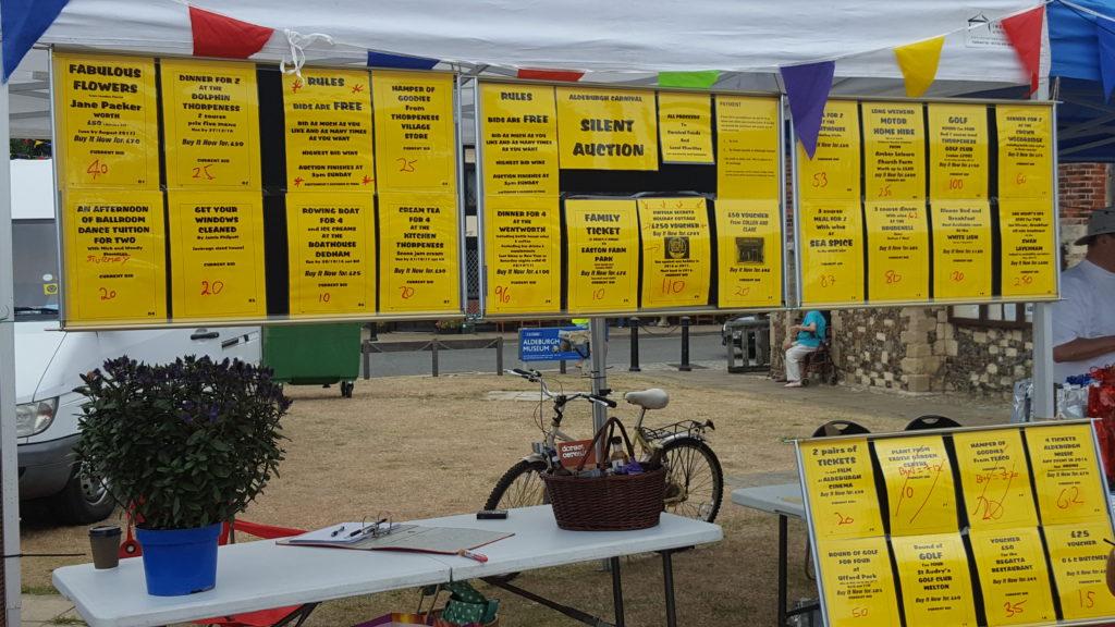 Aldeburgh Carnival Silent Auction 2016