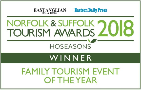 Norfolk & Suffolk Tourism Awards winner 2018